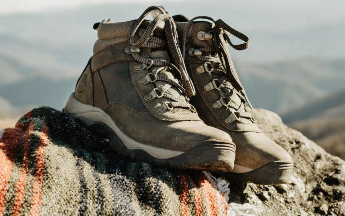 A pair of hiking boots
